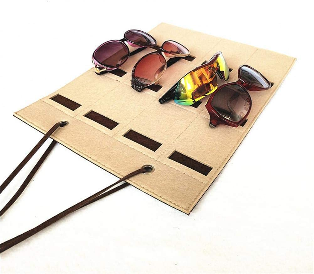 gaeruite Sonnenbrille Display Organizer 12 Slots Sonnenbrille Organizer Aufbewahrungstasche Wandbehang f/ür Wohnkultur
