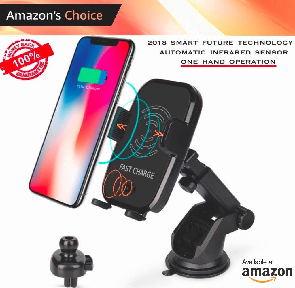 ワイヤレス車充電器|   自動2018センサーテクノロジー  | Air Vent電話ホルダー、カーマウント、10 W高速充電for Samsung Galaxy s8、s7 /s7エッジ、Note 8、iPhone X、8 /8 Plus Qi Enabledデバイス B07B9VWMWT