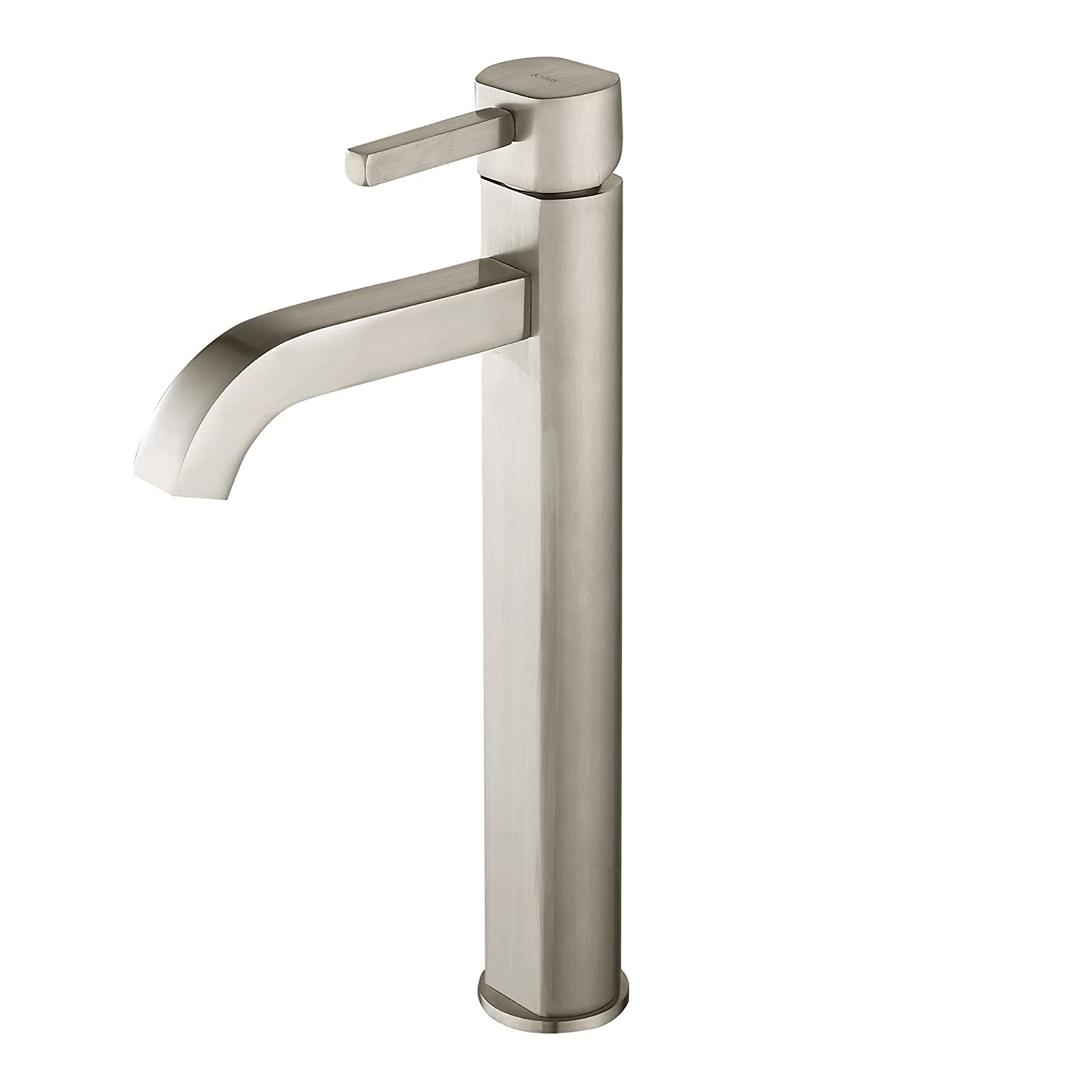 Gentil Kraus FVS 1007SN Ramus Single Lever Vessel Bathroom Faucet Satin Nickel    Touch On Bathroom Sink Faucets   Amazon.com