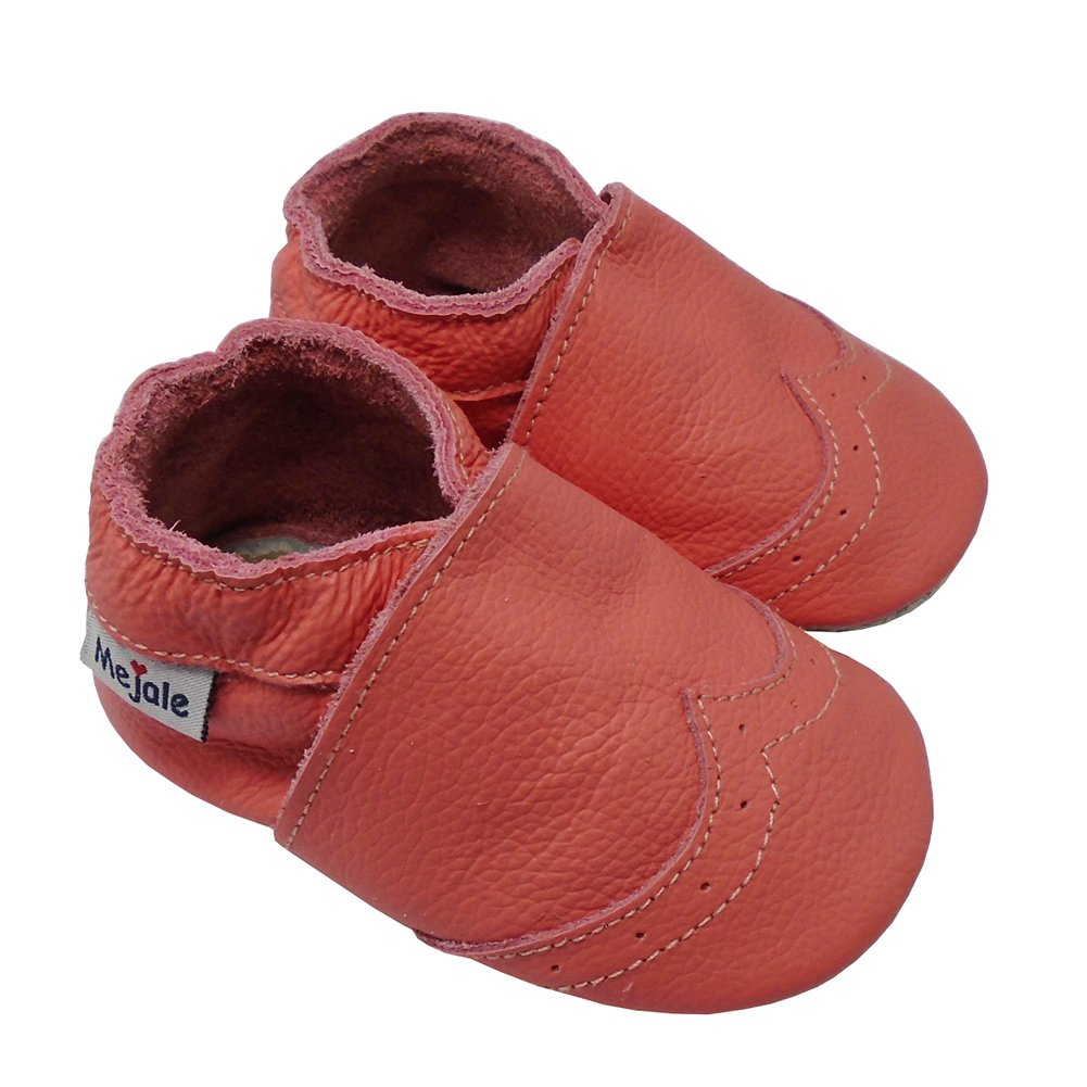 Mejale Baby Shoes Soft Sole Leather Crawling Moccasins Infant Toddler Crib Slippers