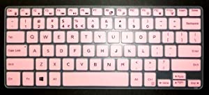 BingoBuy US Layout Keyboard Protector Skin Cover for 11.6'' Dell Inspiron 11-3162 11-3168 11-3169 11-3179 11-3180 11-3185 11-3195 i3162 i3168 i3169 i3179 i3180 i3185 i3195 Card Case (Pink)