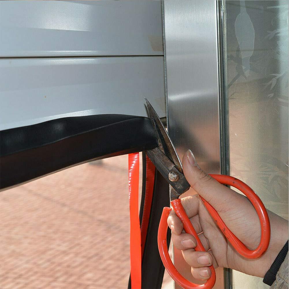 Borde de la Intemperie Tira de Sellado Inferior Cinta Adhesiva Multiusos para Parte Inferior de la Puerta Tira de Sellado de Goma para Puerta de Garaje