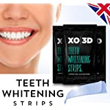 XO 3D 14 Teeth Whitening Strips Kit, 1 Week Course, Enamel Safe, Mint Flavoured, Professional Advanced White Strips, Removes Tea, Coffee and Wine Stains