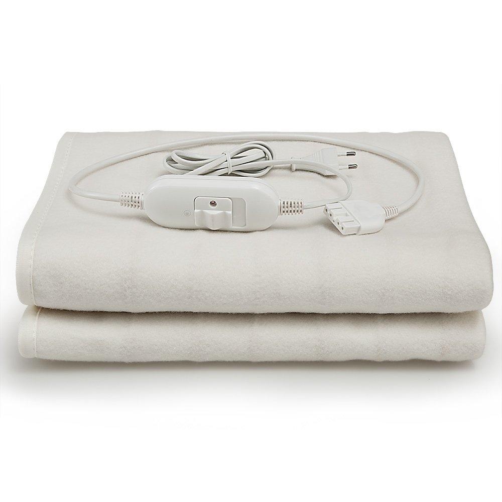 Manta eléctrica de 150 x 80 cm | 3 funciones | lavable a máquina a 40º máximo | rápido y sencillo |: Amazon.es: Hogar