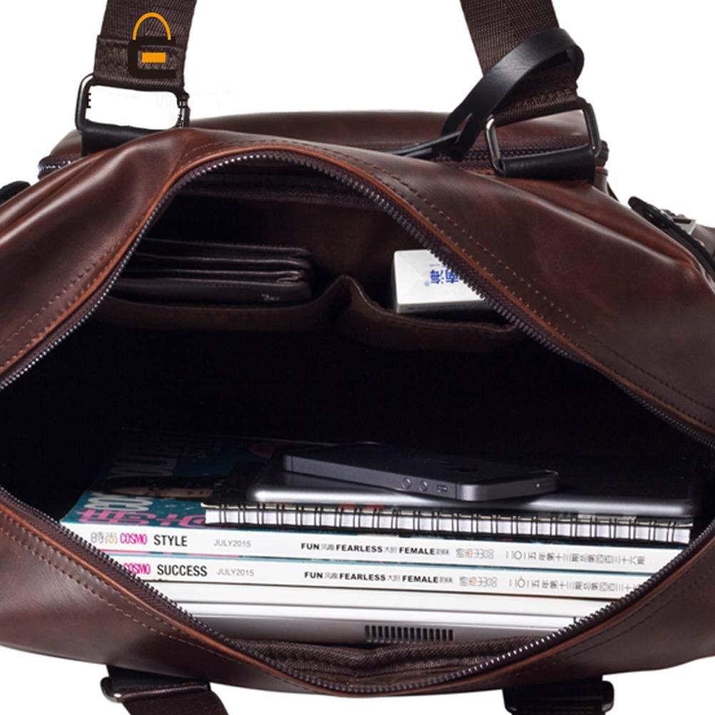 4611aa0f07 Valises et sacs de voyage AIURBAG PU Cuir Sac de voyage Tote Sac à main  doit Sac pour homme