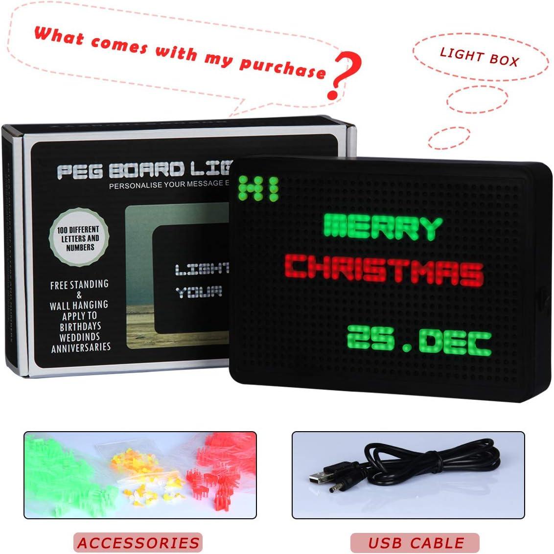 Amazon.com: NUÜR - Caja de luz LED con 300 letras y números ...