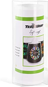 "TECKWRAP Glossy White Smart Adhesive Vinyl - 5.5"" x 10ft, Adhesive Decal Roll"