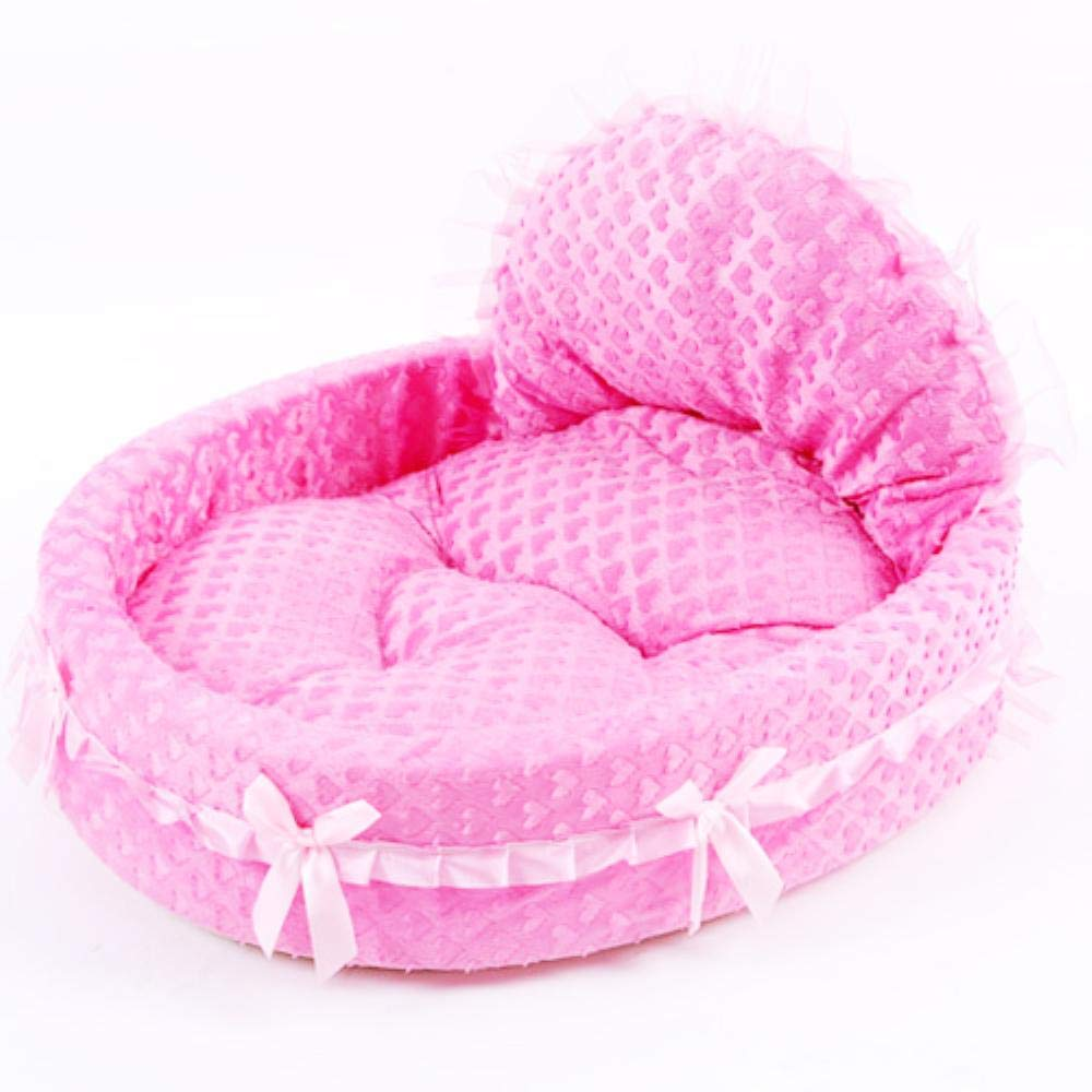 Amazon.com : Vivian Inc Sofas & Chairs - Dog Bed Soft Sofa Design Cute with Pink Lace Luxury Cat Dog Beds for Small Dogs Pets (Rose Pink, 56x53cm) : Pet ...