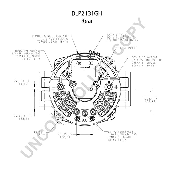 Blp2131gh Leece Neville Prestolite Alternator Heavy Duty 12v 160 Amp