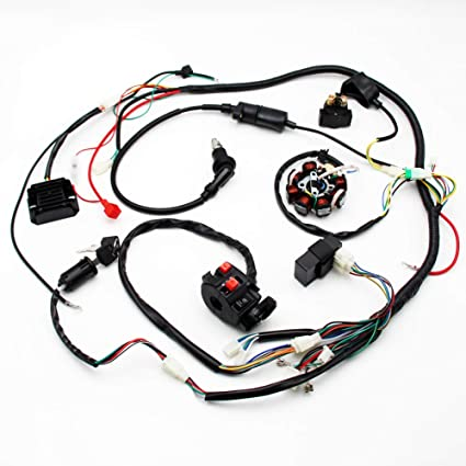 amazon com buggy wiring harness loom gy6 engine 125cc 150cc quad GK Go Kart 90 SL