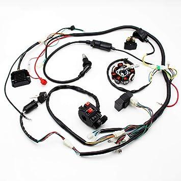 Amazon.com: Buggy Wiring Harness Loom GY6 Engine 125cc 150cc ... on helix go kart wiring harness, sunl go kart wiring harness, diamond go kart wiring harness, go kart 150cc gy6 wiring harness,