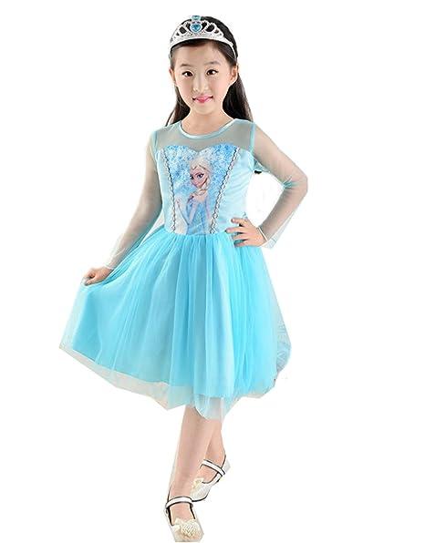 f0778f67bf87 Amazon.com  IFK Little Girls Princess Inspired Costume Short Dress ...