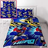 Transformers Hero UK Single/US Twin Unfilled Duvet Cover and Pillowcase Set