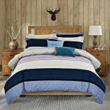 How Wide Is a King Bed DelbouTree 3pcs Microfiber Duvet Cover Set with 4 Corner Ties,Zipper Closure,King 104x92