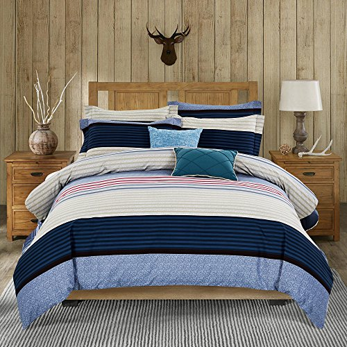 Microfiber Duvet Cover Set Striped Duvet Covers With
