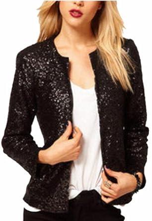 Amazon.com: htoohtooh Mujer Slim chaqueta de punto de ...