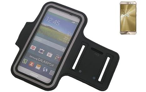 K-S-Trade Für Asus ZenFone 3 (ZE520KL) Neopren Jogging Armband Sportarmband Oberarmband schwarz für Asus ZenFone 3 (ZE520KL)
