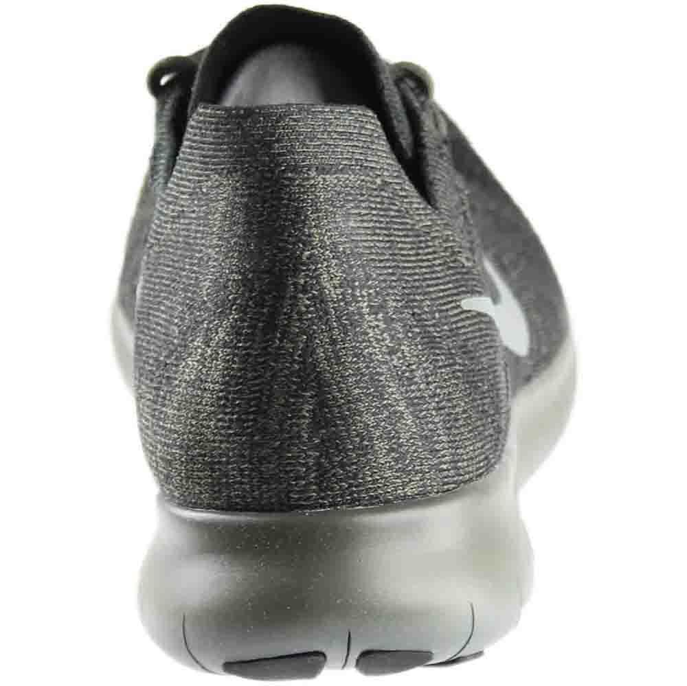 Nike Heren Gratis Rn Flyknit 2017 Loopschoenen Zwart / Rivier Rock / Antraciet 880843-012 Maat 8
