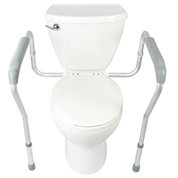 handicap toilet bars height. toilet rail by vive - bathroom safety frame for elderly, handicap and disabled bars height b