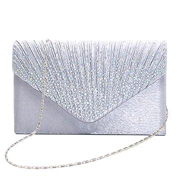 0b7d4e6e6b846 Tingtin Handtasche Abendtasche Damen Clutch Handtasche Bag Umhängetasche  Kleine Schultertasche Damentaschen mit Satin Strass-Nieten für Party  Hochzeit ...