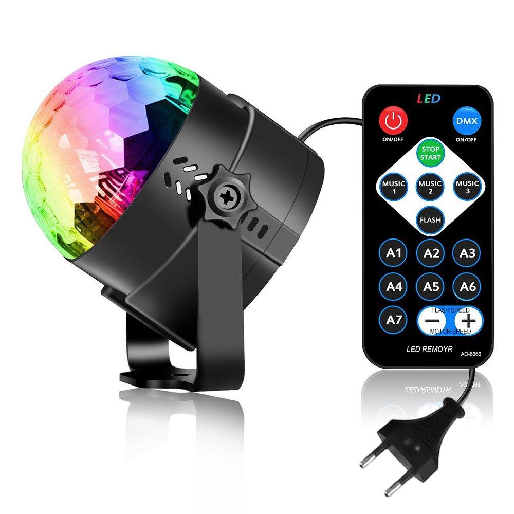 LED Stage Light Party Lights RGB Sound Activated Lamp Karaoke Bar Restaurant Machine Strobe Dance Light Disco DJ Ball Lights