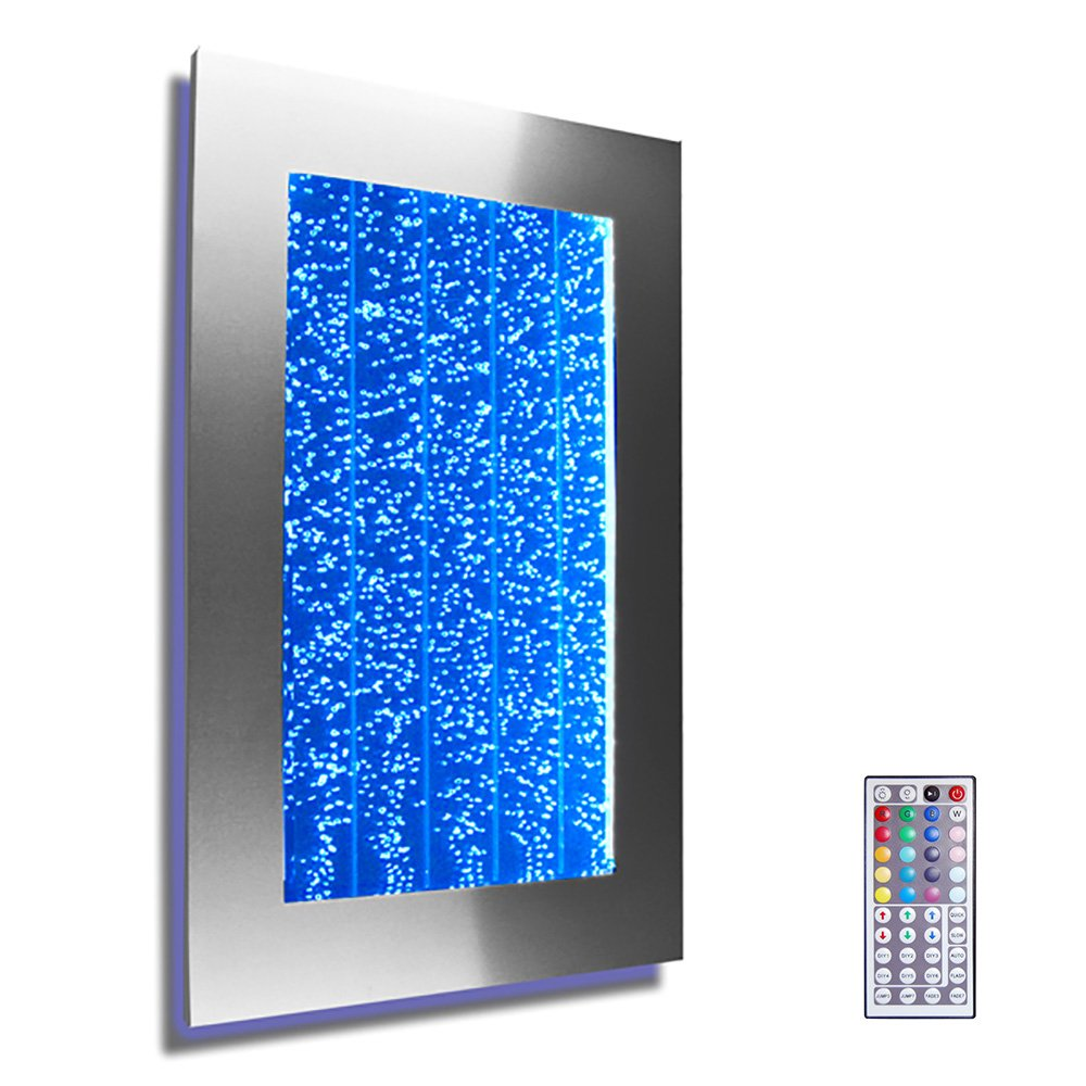 Wall Mount Hanging Bubble Wall Aquarium 30'' LED Lighting Indoor Panel 300WM Water Fall Fountain Water Feature by Bubblewall