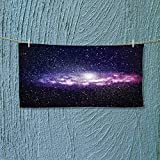 Super Absorbent Towel Nebula Cloud in Milky Way Infinity in Interstellar Solar Explosion Design Purple Dark Ideal for Everyday use L39.4 x W9.8 inch