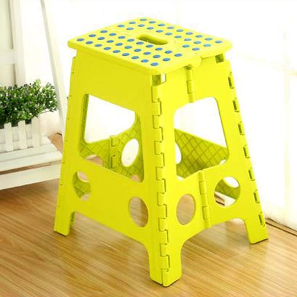 C JOLLY Folding Stool  Dining Table And Chair Plastic High Stool Adult Household Simple Portable Space Saving Foot Stool (color   C)