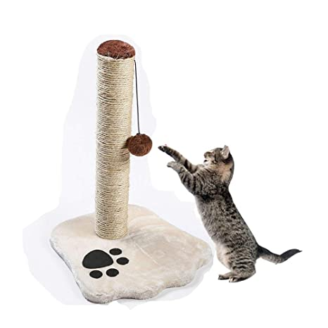 Poste rascador para Gatos Wisfrut, 17 Pulgadas, Barra de rascador para Gatos, Cuerda