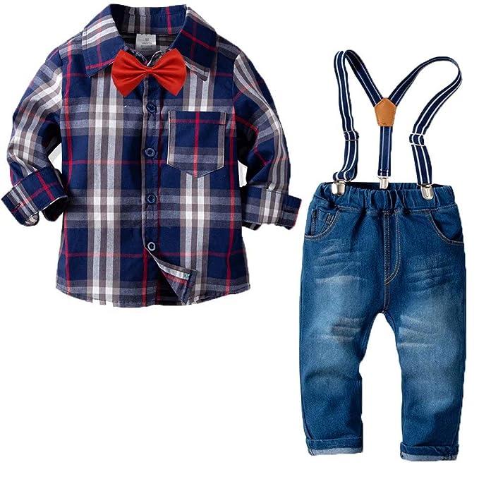Amazon.com: YALLET Conjunto de ropa para niños y bebés, con ...