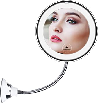 Brightown 30 Led Lighted Makeup Mirror With Dimmable Touchscreen Detachable 7x Magnification Spot Mirror And Power Adaptor Dual Power Supply Lighted Vanity Mirror For Countertop Cosmetic Makeup Amazon Co Uk Diy Tools