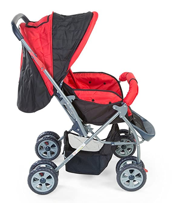 LuvLap Starshine Stroller/Pram, for Newborn Baby/Kids, 0-3 Years (Red)