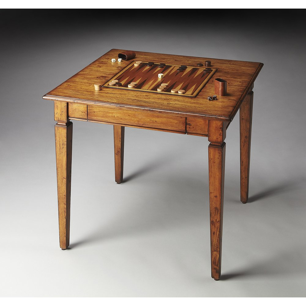 . Amazon com  Wooden Game Table  Kitchen   Dining