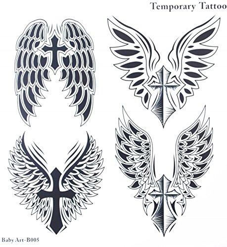 Tatouages Faux De Vente Chaude A La Mode Un Parper Avec 4 Ailes D