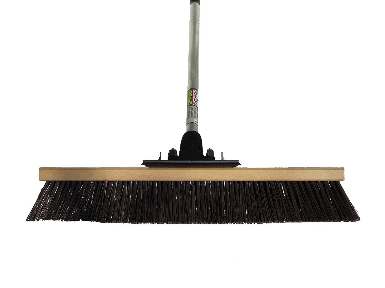 FlexSweep Unbreakable Commercial Push Broom (Contractors 24 Inch) Coarse Bristles