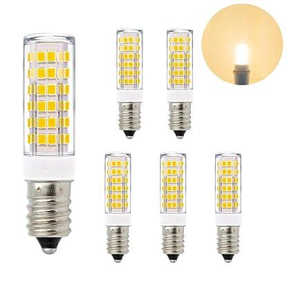 ENUOTEK Lamparas Bombillas Pequeñas de LED SES Casquillo E14 7W 600Lm de Bajo Consumo Blanco Calido
