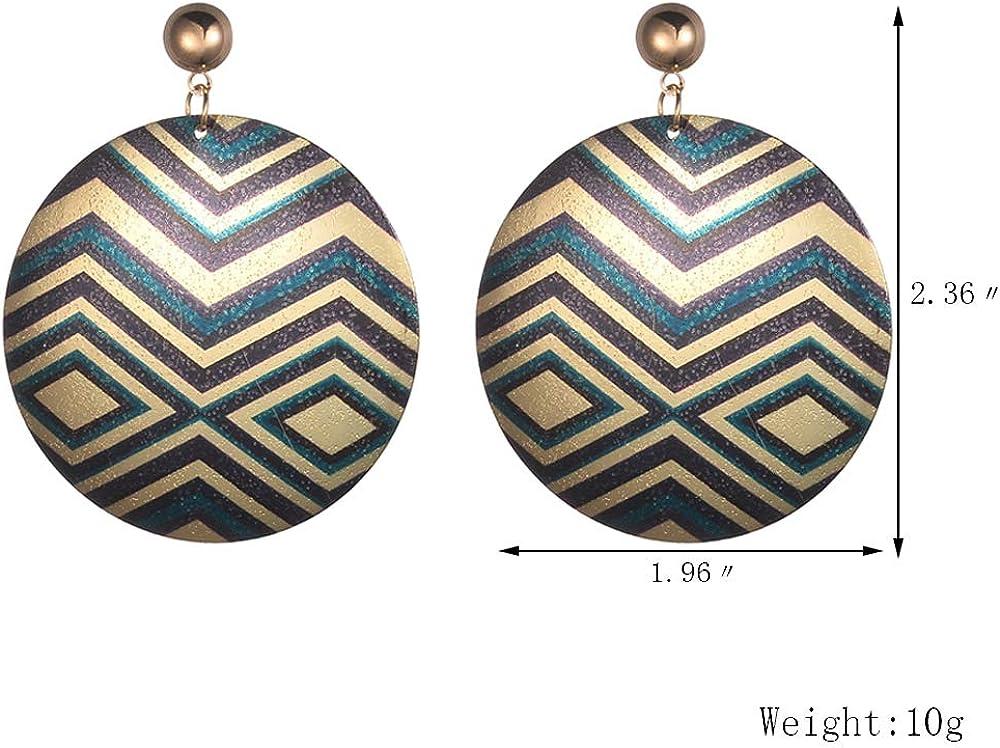 Aganippe 10//12//20 Pairs Ethnic Pendant Earrings For Women Fashion Multiplate Bohemian Dangle Womens Earrings
