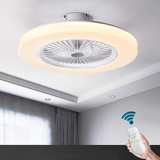 Ventilador de techo Oukaning con iluminación, ventilador de 3 ...