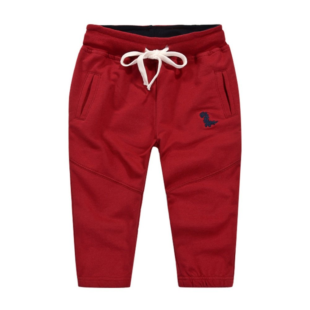Loveble Little Kids Boys Spring/Summer/Autumn Cotton Plain Causal Sports Full Length Trousers Pant Age 1-10 Years