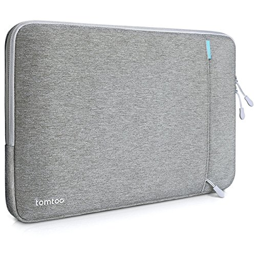 Tomtoc 360° Schutzhülle für 13 Zoll MacBook Pro Retina/12,9 Zoll iPad Pro, Stoßfester Stoff Laptop Schutztasche, Spritzwasserfest, Grau