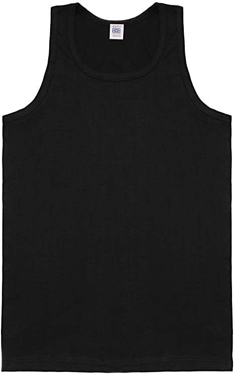 Slazenger Muscle Vest Mens Singlet Tops Tank Black X-Small