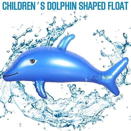 Never-hu Flotador Inflable con Forma de delfín para niños, 39.37 x ...