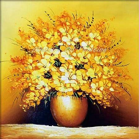 Dacehome Peinture à L Huile Sur Toile Blooming Art Golden