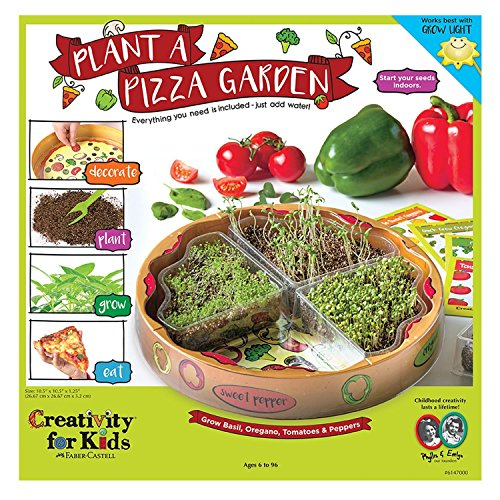 Creativity for Kids Plant a Pizza Garden - Vegetable and Herb Starter Kit for Kids (Kit Craft Garden)