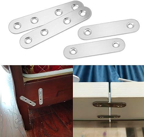2/trous Increway 10/pi/èces 37/par 16/mm support dangle Brace plaques plaques en m/étal Rejoignant connecteur r/éparation Bracket avec vis de fixation EN ACIER INOXYDABLE