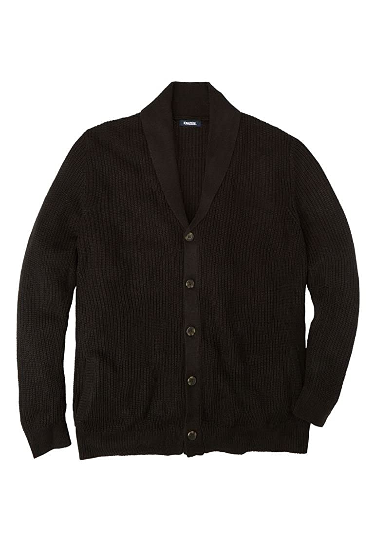 b302855899942 Top2  KingSize Men s Big   Tall Shaker Knit Shawl-Collar Cardigan Sweater