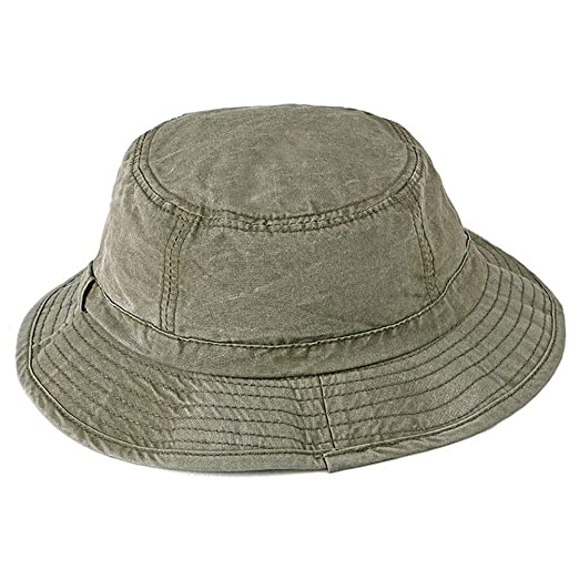 8b69ab9c1cd Wide-Brim Washed-Cotton Bucket Hat - Unisex Fishing Cap