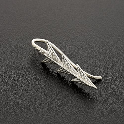 Unique Ear Climber, Sterling Silver Curved Ear Sweep Crawlers Earrings, Arrows Shape, Boho Chic Style, Handmade Statement Jewelry