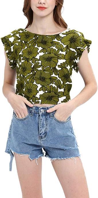 Verano Mujer Blusas Vintage Hipster Impreso Patrón Camisas Estilo Tamaños Cómodos Moda rnas o Anchos Clásica Camisetas Hem Bra Moda Hem Bra Cómodo: Amazon.es: Ropa y accesorios