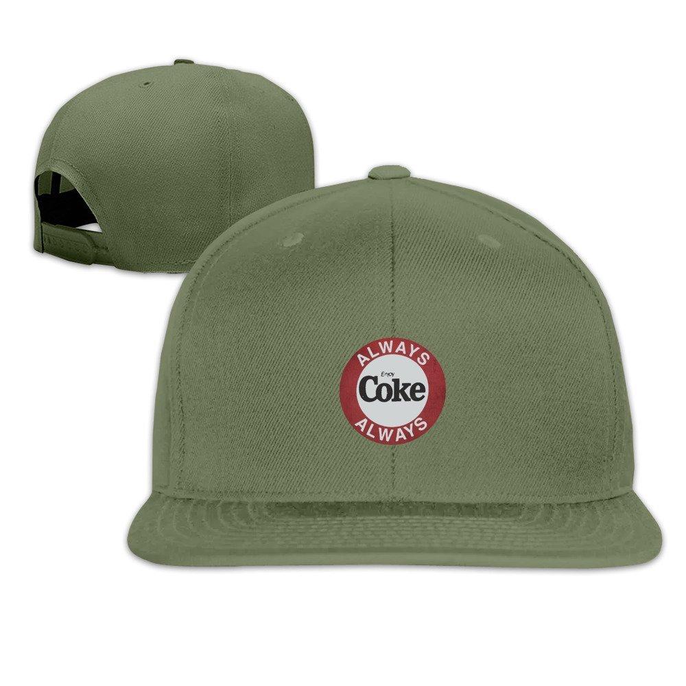 Amazon.com  Always Enjoy Coke Unisex Snapback Hats Fashion Caps ... dcb43df721c